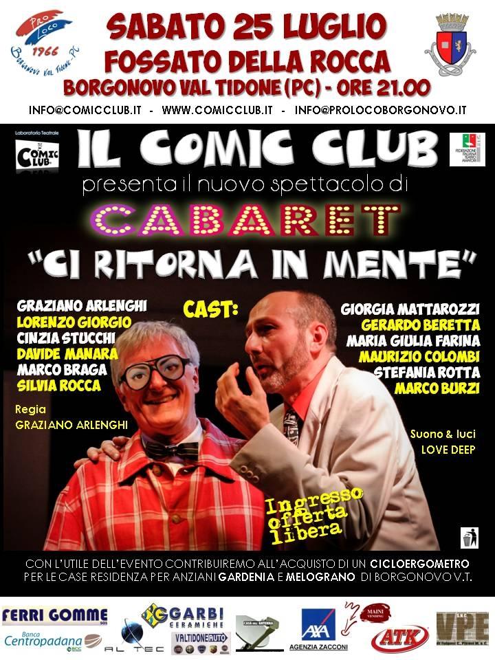 Cabaret 25 luglio 2015
