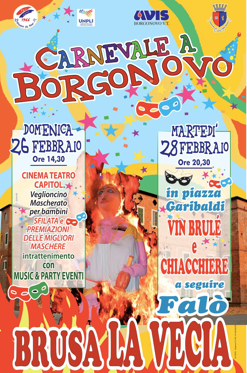 Carnevale Borgonovo Val Tidone 2017